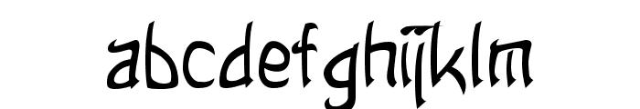 Taibaijan Font LOWERCASE