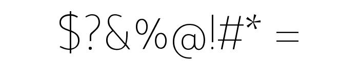 Tajawal ExtraLight Font OTHER CHARS