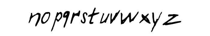 TakeNotes Font LOWERCASE