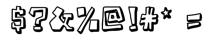 TakeTwo Font OTHER CHARS