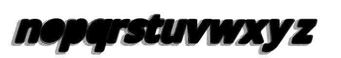 TakenBlackItalic Font LOWERCASE