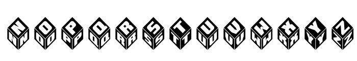 Takraf-3d Font LOWERCASE