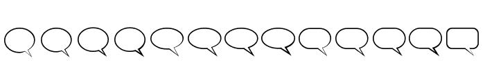 Talk Regular Font UPPERCASE