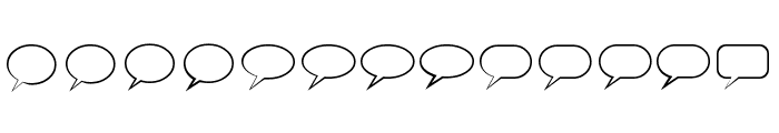 Talk Regular Font LOWERCASE