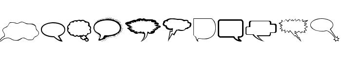 Talkies Font UPPERCASE