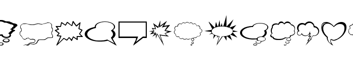 Talkies Font LOWERCASE