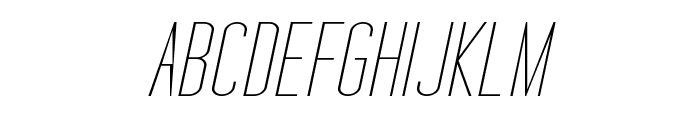 Tall Films Expanded Oblique Font UPPERCASE