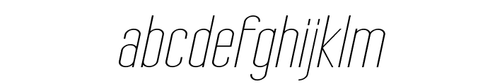 Tall Films Expanded Oblique Font LOWERCASE