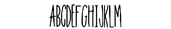 Tall_N_Skinny Font UPPERCASE