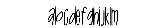 Tall_N_Skinny Font LOWERCASE