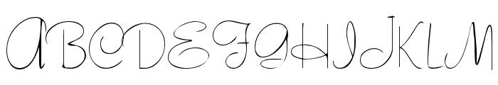 Tamarind Font UPPERCASE