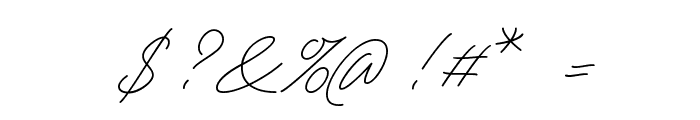 Tamoro Script Personal Use Only Font OTHER CHARS