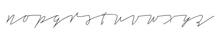 Tamoro Script Personal Use Only Font LOWERCASE