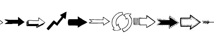 Tanaestel Doodle Arrows Regular Font UPPERCASE