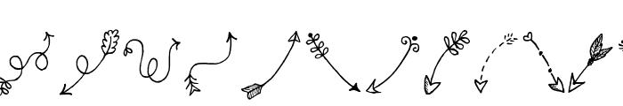 Tanaestel Doodle Arrows Regular Font LOWERCASE