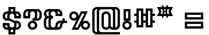Tangereen Regular Font OTHER CHARS