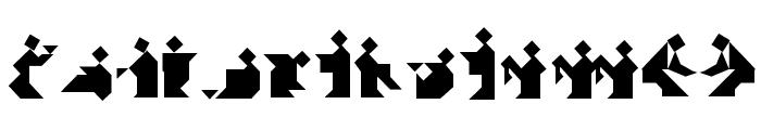TangramBam Font UPPERCASE