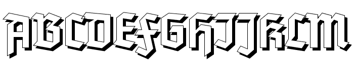 Tannenberg Shadow Font UPPERCASE