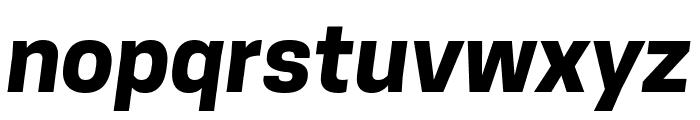 Tanohe Sans Bold Italic Font LOWERCASE