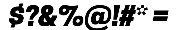 Tanohe Sans ExtraBold Italic Font OTHER CHARS