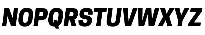 Tanohe Sans ExtraBold Italic Font UPPERCASE