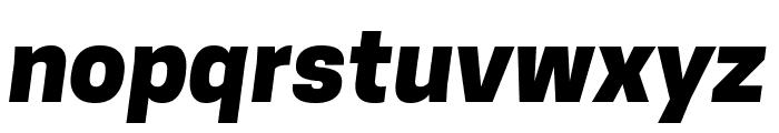 Tanohe Sans ExtraBold Italic Font LOWERCASE