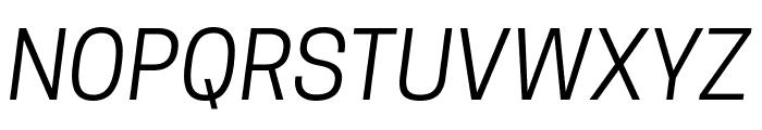 Tanohe Sans Italic Font UPPERCASE