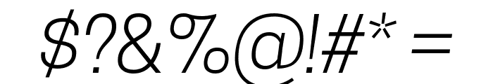 Tanohe Sans Light Italic Font OTHER CHARS