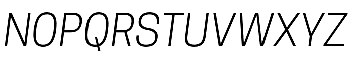 Tanohe Sans Light Italic Font UPPERCASE