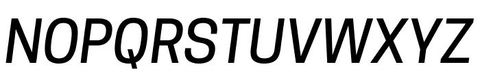 Tanohe Sans Medium Italic Font UPPERCASE
