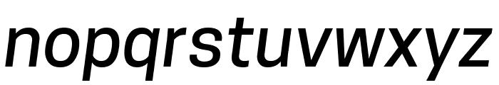 Tanohe Sans Medium Italic Font LOWERCASE