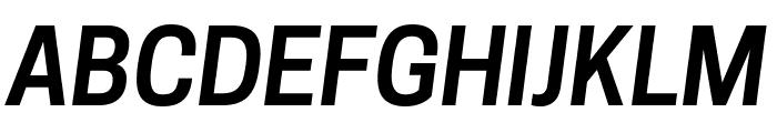 Tanohe Sans SemiBold Italic Font UPPERCASE