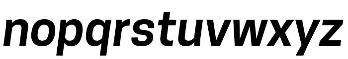 Tanohe Sans SemiBold Italic Font LOWERCASE
