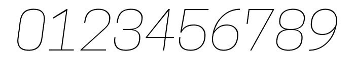 Tanohe Sans Thin Italic Font OTHER CHARS