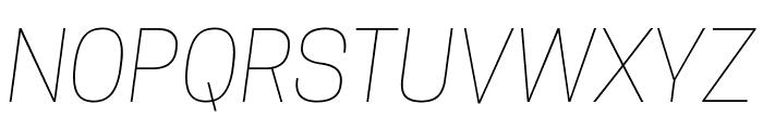 Tanohe Sans Thin Italic Font UPPERCASE