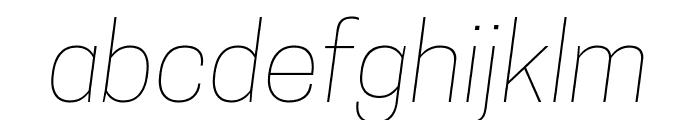 Tanohe Sans Thin Italic Font LOWERCASE