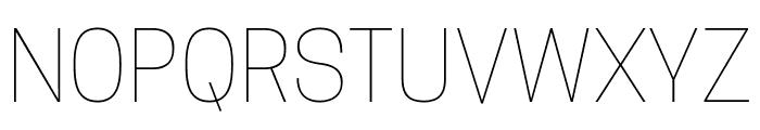Tanohe Sans Thin Font UPPERCASE