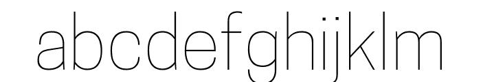 Tanohe Sans Thin Font LOWERCASE