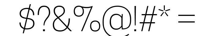 TanoheSans-ExtraLight Font OTHER CHARS