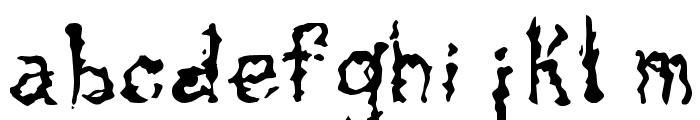 Tar Pits Font LOWERCASE