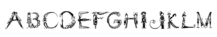Tarantella Display Font UPPERCASE