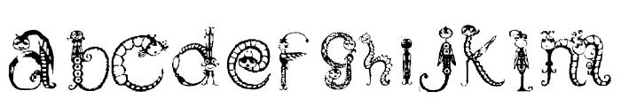 Tarantella Display Font LOWERCASE