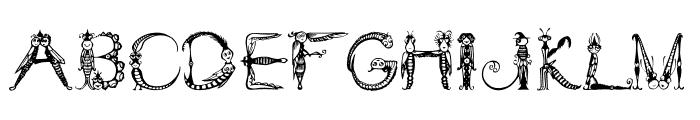 Tarantella MF Font UPPERCASE