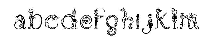 Tarantella MF Font LOWERCASE