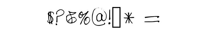 Tara's Handwriting 2 Medium Font OTHER CHARS