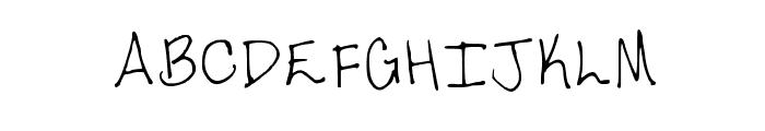 Tara's Handwriting 2 Medium Font UPPERCASE