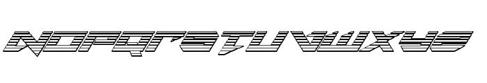 Tarrget Chrome Italic Font UPPERCASE