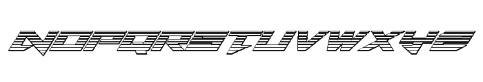 Tarrget Chrome Italic Font LOWERCASE