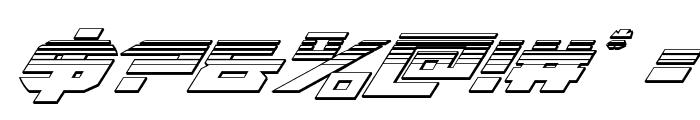 Tarrget Platinum Italic Font OTHER CHARS
