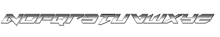 Tarrget Platinum Italic Font UPPERCASE